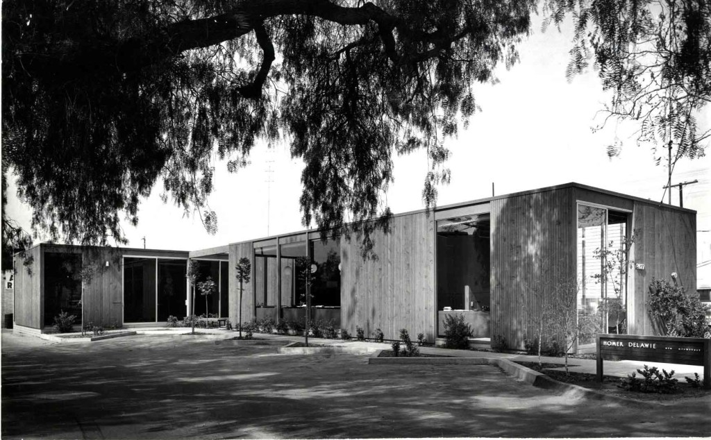 Delawie's first office circa 1961.